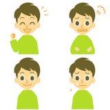 L'homme, joyeux, fâché, pleurent illustration de vecteur