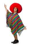 L'homme mexicain nu d'isolement sur le blanc Photographie stock