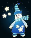 L'homme mignon de glace avec l'étoile pour la carte de voeux et autre conçoivent Illustration Libre de Droits