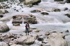 L'homme pêche Photographie stock libre de droits