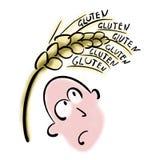 L'homme a peur du gluten illustration de vecteur