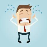 Homme pleurant triste de bande dessinée Photo stock