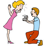 L'homme propose au femme Photo stock