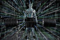 L'homme robotique succède le monde Photographie stock
