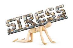 L'homme se tient sur ses genoux sous la charge du stress émotionnel Photographie stock libre de droits