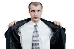 L'homme sur un fond blanc Photographie stock libre de droits