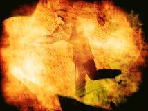 L'homme a tiré dans un trou noir Image stock