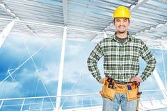 L'homme usine la verticale Photo stock