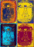 L'homme vitruvian de Leonardo illustration libre de droits