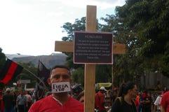 L'Honduras protesta 21 dicembre - Tegucigalpa 2017 Honduras 7 Fotografia Stock Libera da Diritti