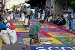 L'Honduras Semana Santa, il Alfombra Fotografie Stock Libere da Diritti