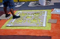 L'Honduras Semana Santa, il Alfombra Immagine Stock Libera da Diritti