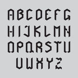 L'horaire de l'alphabet set Images libres de droits