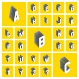 L'horaire de l'alphabet set illustration 3D Éléments de conception Illustration Libre de Droits