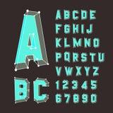 L'horaire de l'alphabet set illustration 3D Éléments de conception Illustration Stock