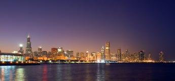 L'horizon de Chicago Photographie stock libre de droits