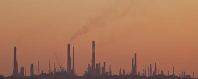L'horizon de la pollution de l'industrie Images libres de droits