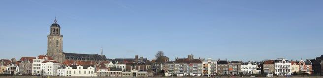 L'horizon de la ville de Deventer aux Pays-Bas photos libres de droits
