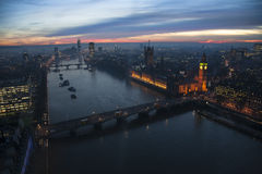 L'horizon de Londres, incluent grand Ben Images stock