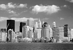 L'horizon de Lower Manhattan Photographie stock libre de droits