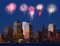 L'horizon de Lower Manhattan Photo stock