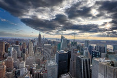 Horizon de Manhattan photographie stock