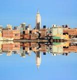 L'horizon de Midtown de New York City Photos libres de droits