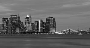 L'horizon de New York City Photos libres de droits