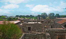 L'horizon de Pompeii photos stock