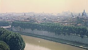 L'horizon de Rome banque de vidéos