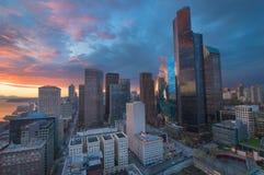 L'horizon de Seattle de Smith Tower image libre de droits
