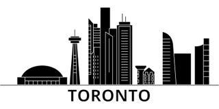 L'horizon de ville de vecteur d'architecture de Toronto, paysage urbain de voyage avec des points de repère, bâtiments, a isolé d Photos libres de droits