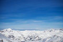 L'horizontal de l'hiver Images libres de droits