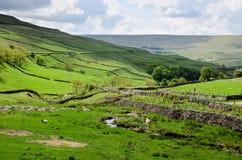 L'horizontal de vallées de Yorkshire Images libres de droits