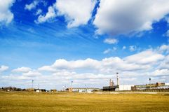 L'horizontal industriel. Photo libre de droits