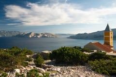L'horizontal sur l'île de Krk image stock