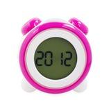 L'horloge affiche 2012 Photo libre de droits
