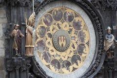 L'horloge astronomique célèbre sur la vieille place à Prague Images libres de droits
