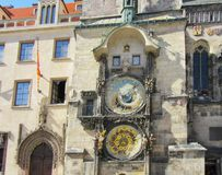 l'horloge astronomique de Prague Photo stock