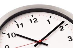 L'horloge blanche, se ferment vers le haut de la vue photo stock
