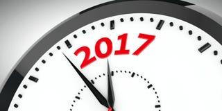 L'horloge composent 2017 2 illustration de vecteur