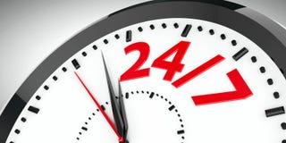 L'horloge composent 24/7 Images stock