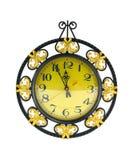 l'horloge a décoré Images libres de droits