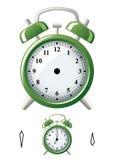 L'horloge d'alarme, a placé votre propre heure Images stock