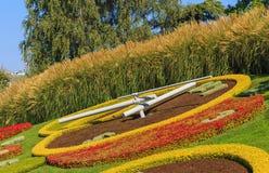 L'horloge de fleur dans la ville de Genève, Suisse Photo stock