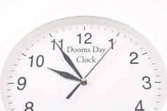 L'horloge de jour de sorts malheureux Photos stock