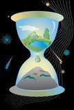 L'horloge de la destruction Photographie stock
