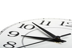 l'horloge a isolé le blanc affichant du temps neuf image libre de droits
