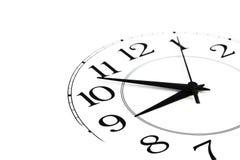 l'horloge a isolé le blanc affichant du temps neuf Photographie stock