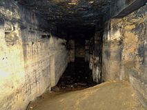 L'horreur dans les catacombes Photos stock